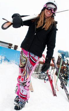 Pame' skiing in Aspen