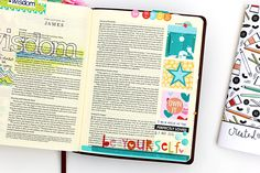 As I journal my way through the Created to Create devotional I am reminded yet again that one of the most important aspects of my Bible-journaling journey is to remain true to myself. By that I mean that when it comes time to decorate the margins of my Bible I don't need to look somewhere else for inspiration, but rather …