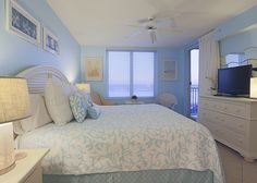 The master bedroom has gulf views