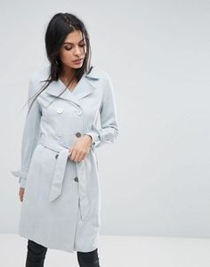 Lipsy Doublebreasted Bonded Trench with Tie Cuff