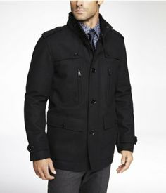 EXPRESS TECH WATER RESISTANT MILITARY JACKET | Express
