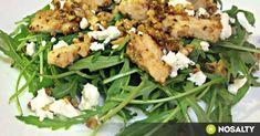Mézes-kefíres pulyka rukkolasalátával recept képpel. Hozzávalók és az elkészítés részletes leírása. A mézes-kefíres pulyka rukkolasalátával elkészítési ideje: 20 perc Meat Recipes, Salad Recipes, Kefir, Feta, Salads, Chicken, Foods, Drinks, Collection