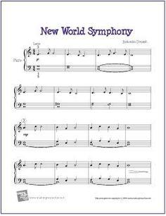 New World Symphony (Largo) by Dvorak | Free Sheet Music for Piano - http://makingmusicfun.net/htm/f_printit_free_printable_sheet_music/new-world-symphony-piano-solo.htm