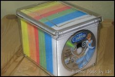 organizing DVD CD video game collection - so doing this!