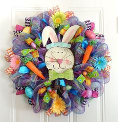 Easter Green Boy BUNNY Top Hat Rabbit Deco by SparkleWithDesigns