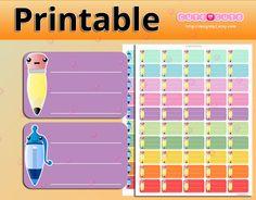 Kawaii To do checklist Printable planner stickers  by designby2