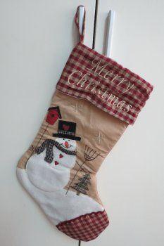 Gift socks ( blue background red edge )