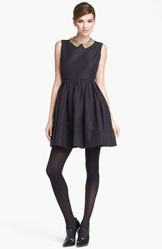 kate spade new york 'laurence' cotton blend fit & flare minidress available at #Nordstrom. Adorable!