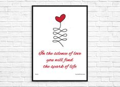 In the Silence of Love - Rumi Love Quote Inspirational Poster ~ Print & Display Today!