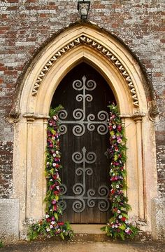 Selkie~gal Gothic church door, with lovely ironwork...
