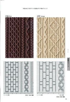 Cable twist knit stitch patterns with chart Мобильный LiveInternet 260 Knitting Pattern Book by Hitomi Shida Lace Knitting Patterns, Knitting Stiches, Cable Knitting, Knitting Charts, Hand Knitting, Stitch Patterns, Japanese Patterns, How To Purl Knit, Card Patterns