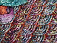 Jewel Dragon (patchwork knitting).