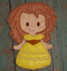 """Sunshine Glitter Dress Up Outfit from my """"Unpaper Felt Dolls Share"""" collection Listing for doll clothes outfit only fits girls by cabincraftycreations on Etsy"""