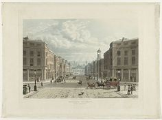Regent Street seen from Picadilly Circus, London, by J. Bluck, Rudolph Ackermann, 1822