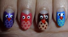 Owl Nails how cute!