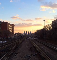 Sunset from the metro north overpass - Bronx, NY
