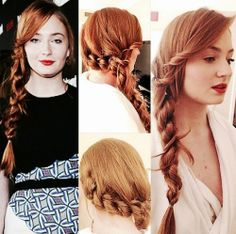 Sophie Turner getting ready for the Entertainment Weekly Celebration of the 2014 SAG Awards <3