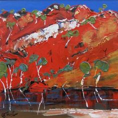 Carole  Foster - Emma Gorge Contemporary Landscape, Contemporary Paintings, Abstract Landscape, Landscape Paintings, Australian Painting, Australian Artists, Silk Painting, Watercolour Painting, Paintings I Love
