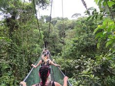 Crossing a suspension bridge in the trees was just one of the many adventures Cal U biology students experienced while learning about environmental issues in Costa Rica. #biology #studyabroad #caluofpa