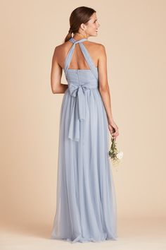Christina Convertible Tulle Bridesmaid Dress in Dusty Blue – Birdy Grey Flattering Bridesmaid Dresses, Dusty Blue Bridesmaid Dresses, Affordable Bridesmaid Dresses, Grey Bridesmaids, Indian Bridal Lehenga, Convertible Dress, Gray Dress, Reception Dresses, Bridal Dresses