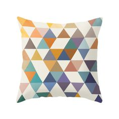 Mid century geometric pillow mid century cushion par LatteHome