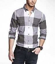 EXTRA SLIM PLAID SHIRT