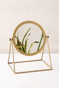 Magical Thinking Aurora Tabletop Mirror in brass