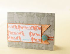 Stamped birds and birdcage card using the My Acrylix® Hello Tweety stamp set. #CTMH