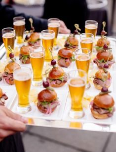 new ideas for backyard bbq wedding reception fun Wedding Canapes, Wedding Appetizers, Best Appetizers, Appetizer Recipes, Lobster Appetizers, Appetizer Buffet, Wedding Food Stations, Wedding Reception Food, Wedding Catering