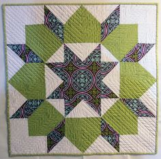 Easy #quilt - just half square triangles and squares....could be any size!