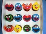 Sesame stree cupcakes....hopefully my sister will make them ;)