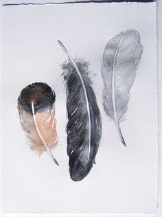 Neutral feathers painted by watercolors. Art painting original. Grey, black feathers painting. Home decor. Kitchen decor.Watercolor feathers.Monochromatic painting. The paper size-27/37 cm 10.5/14.5 inches Paper that i used is 300 msg Artistico Cotton watercolor paper on Fabriano brand