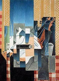 Juan Gris - Still Life with Violin and Guitar, 1913