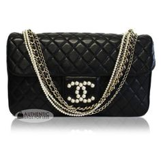 CHANEL - Chanel Westminster Pearl Lambskin bag - Authentic Bags For... ❤ liked on Polyvore featuring bags, handbags, purses, chanel, bolsas, lamb leather handbags, lamb leather purse, purse bag and lambskin leather bag