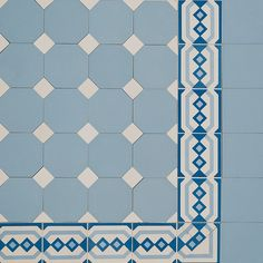 Octagon & Dot Design & Encaustic Border