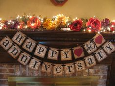 Ruby Wedding Anniversary 40th Banner Sign
