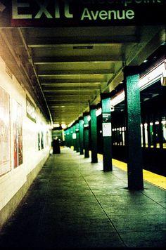 Subway Platform, Late Night. Kodak Portra 400, Leica M3, Leica Summicron DR 50mm f/2. © Jim Fisher
