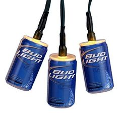 Kurt Adler Battery-Operated 10-Light Bud Light Beer Can Light Set