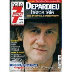 Télé 7 jours (n°1941) du 09/08/1997 : Gérard Depardieu héros télé [Couverture et article mis en vente par Presse-Mémoire]