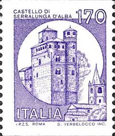Briefmarke: Castles- Alba (Italien) (Burgen) Mi:IT 1530 Italian Language, West Virginia, Postage Stamps, Germany, Castles, Italy, Lettering, Forts, France