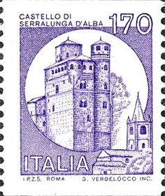 Briefmarke: Castles- Alba (Italien) (Burgen) Mi:IT 1530 Italian Language, West Virginia, Postage Stamps, Germany, Castles, Italy, Lettering, Maps, France
