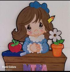 Foam Crafts, Arts And Crafts, Class Door Decorations, Cute Baby Dolls, Cute Faces, Precious Moments, Girl Cartoon, Pre School, Classroom Decor