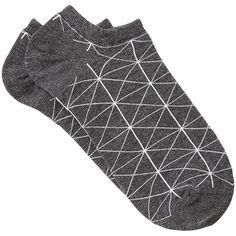 Witchery Geo Sneaker Sock (10 NZD) ❤ liked on Polyvore featuring intimates, hosiery, socks, geometric socks, cotton ankle socks, tennis socks, short socks and cotton socks