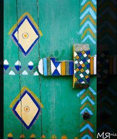 an old door from el nouba,egypt.