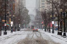Snowy Street in Downtown Seattle by Lee Rentz, via Flickr