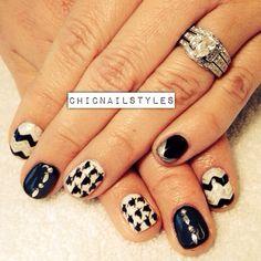 Black/white/silver