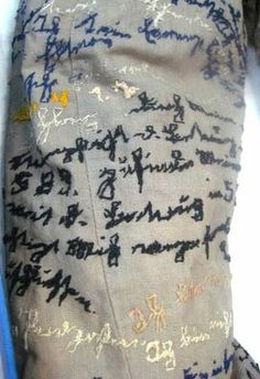 Sleeve from Agnes' Jacket in the Prinzhorn collection embroidered by a mentally ill seamstress http://needleprint.blogspot.co.uk/2012/12/agnes-richters-jacket.html