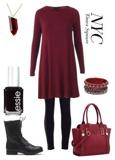 """""""Deadpool's daughter street look"""" by lunalynch13 on Polyvore featuring Essie, Kenneth Jay Lane, women's clothing, women's fashion, women, female, woman, misses and juniors"""