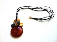 Agate Necklace by UNICAJEWELLERY on Etsy, $40.00