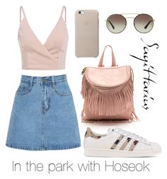 """""""In the park with Hoseok"""" by viva73319 on Polyvore featuring мода, adidas Originals и Prada"""
